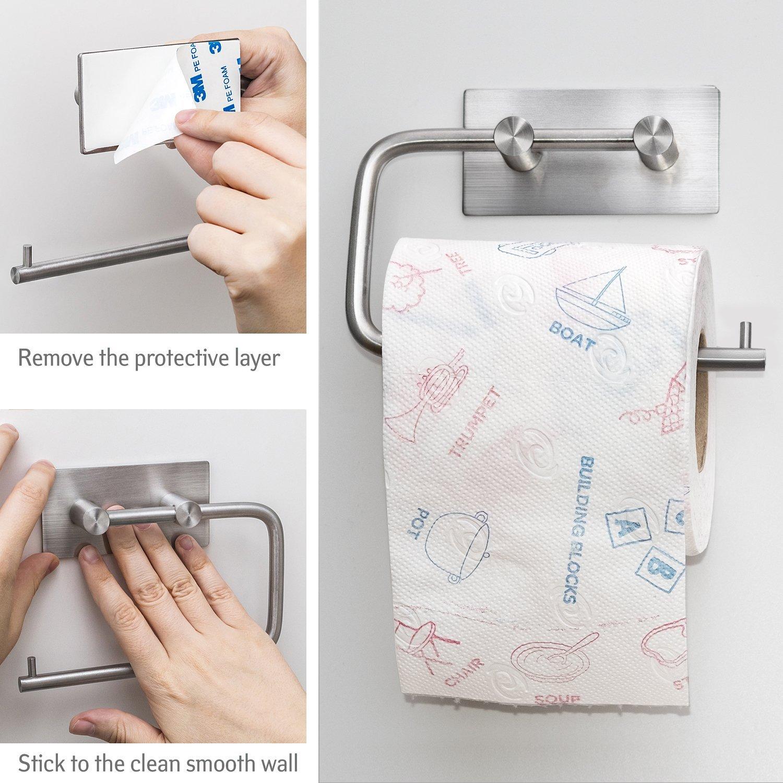 toilettenpapierhalter edelstahl klopapierhalter. Black Bedroom Furniture Sets. Home Design Ideas