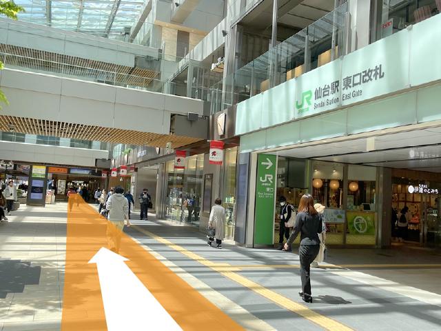 仙台駅東口から02