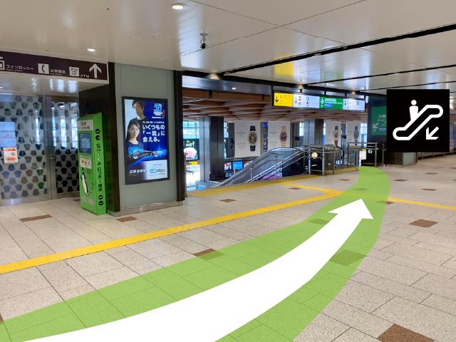 新幹線南口改札から01