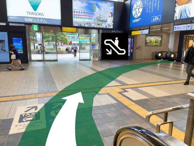 新幹線中央口改札から03