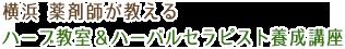 横浜 薬剤師が教える ハーブ教室&ハーバルセラピスト養成講座