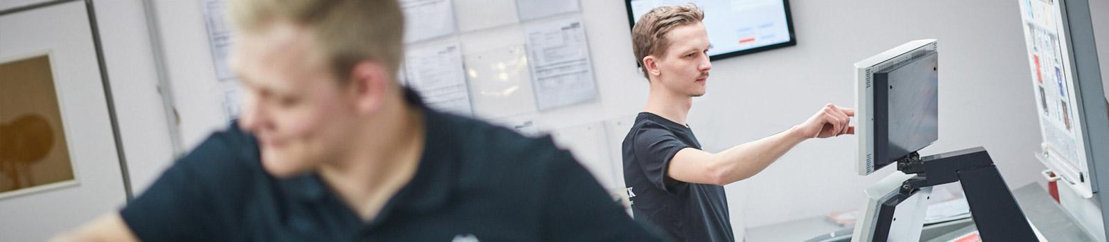 Ausbildung zum Medientechnologen (Druck) bei der Druckerei Satzdruck im Münsterland.