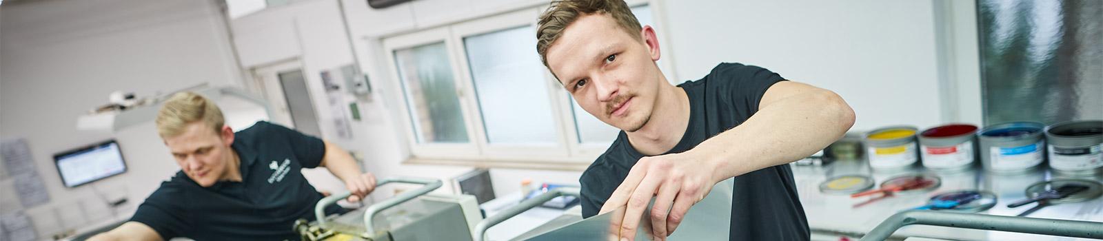Druckverfahren in der Druckerei Satzdruck in Coesfeld