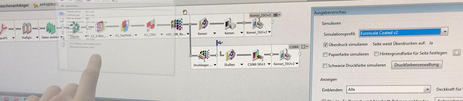 Professionelle Datenübernahme und Datenprüfung in der Druckvorstufe bei der Satzdruck GmbH aus Coesfeld