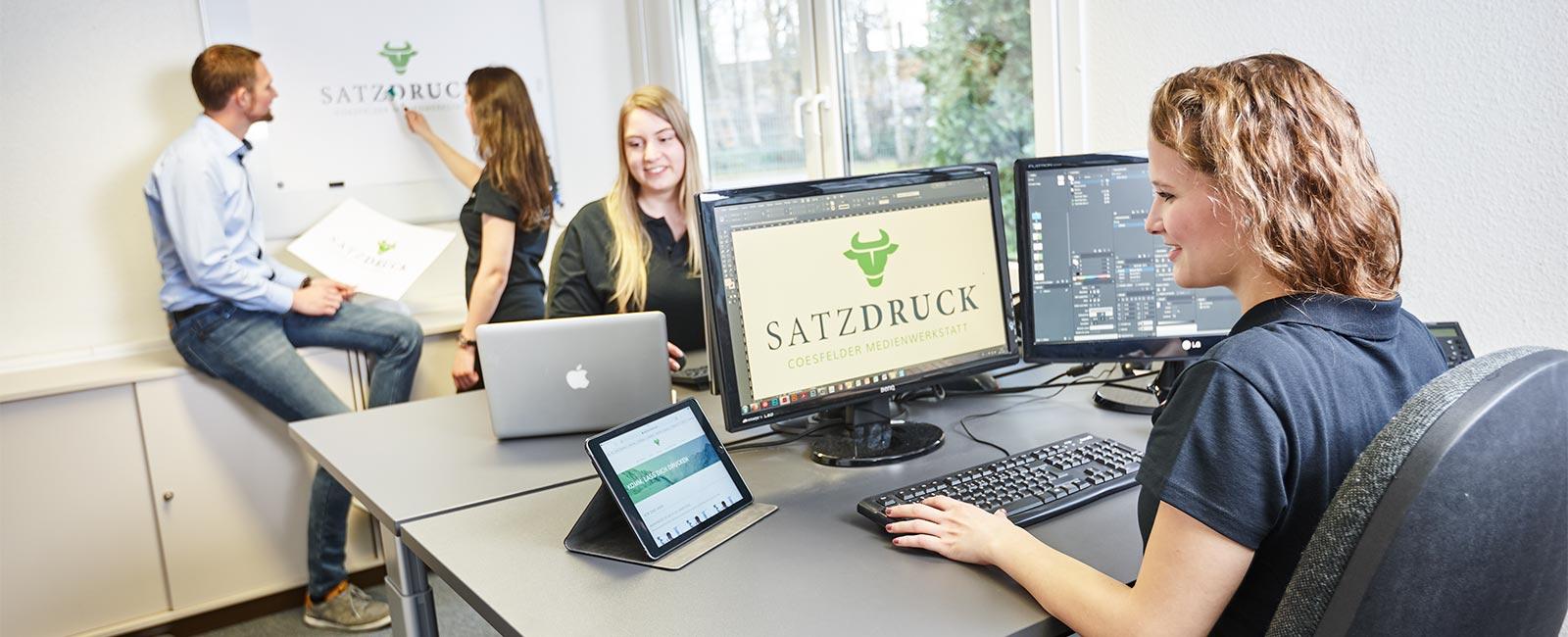 Gestaltung, Satz und Layout bei Satzdruck im Münsterland