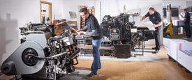 Offsetdruck, Digitaldruck, Letterpress und Großformatdruck in der Druckerei Satzdruck in Coesfeld (NRW).