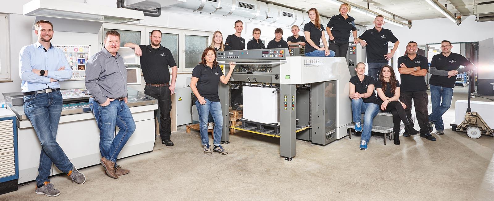 Team Druckerei Satzdruck Coesfeld NRW - Ihre Druckerei im Münsterland