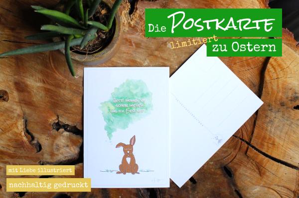 vegane Postkarte