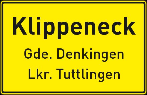 Klippeneck Schild