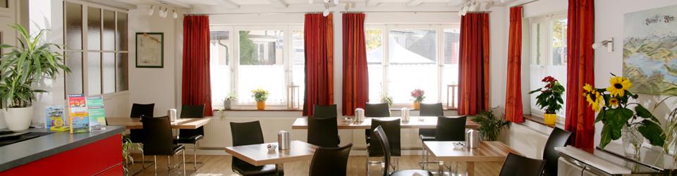 Frühstücksraum Gasthaus Traube Ludwigshafen