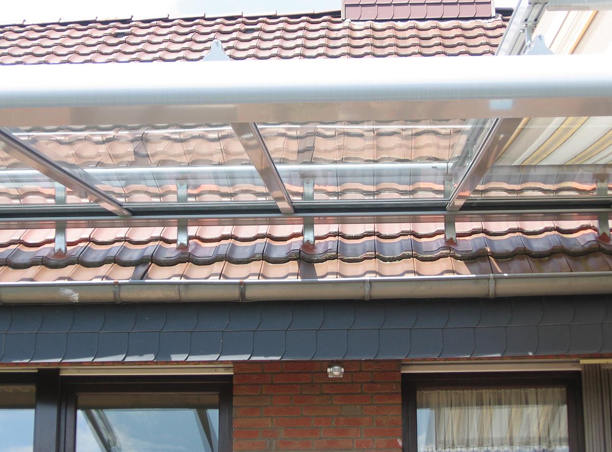 Terrassendach - Montage auf ein Dach
