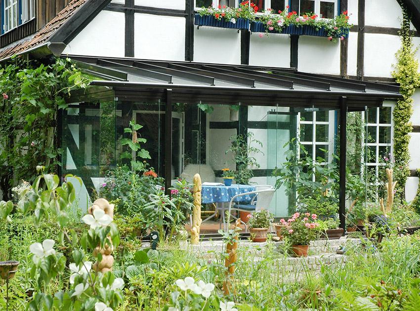 Terrassendach mit Faltanlage von HEUER der Nr. 1