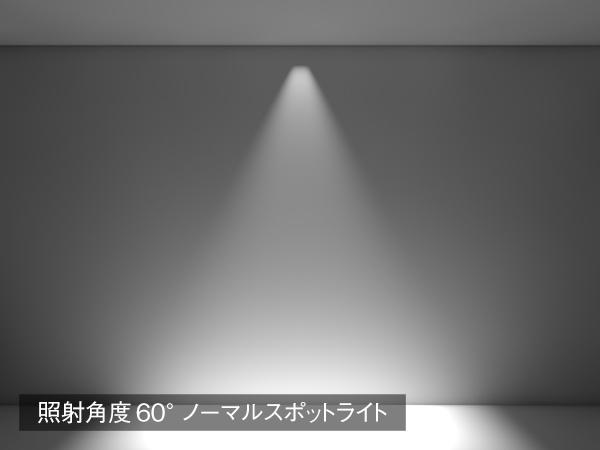 照射角度60° ノーマルスポットライトイメージ