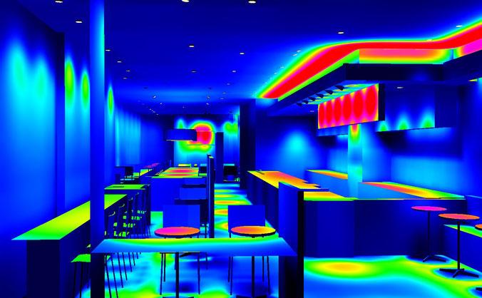 3D照度シミュレーションフォルスカラー