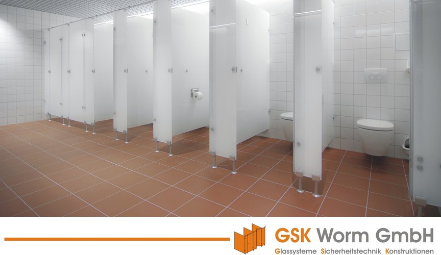 urinal trennw nde glas wc trennw nde glasanlagen gsk worm gmbh. Black Bedroom Furniture Sets. Home Design Ideas