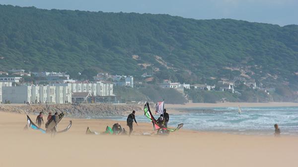 Kitespots in Tarifa Andalusien