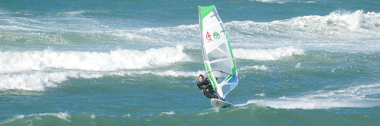 Windsurfer mit Klitmöller
