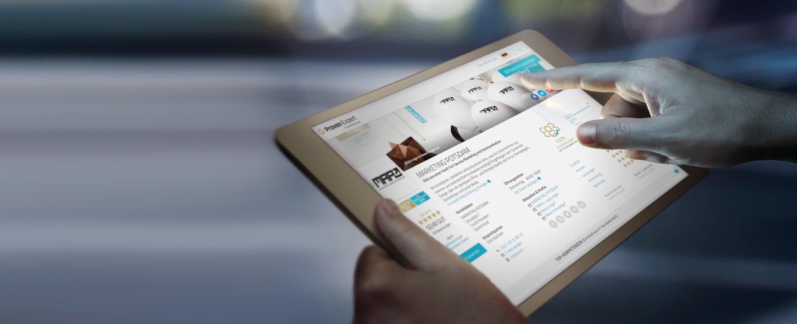 Werbeagentur MAPO-Marketing Potsdam, Bewertungen bei ProvenExpert
