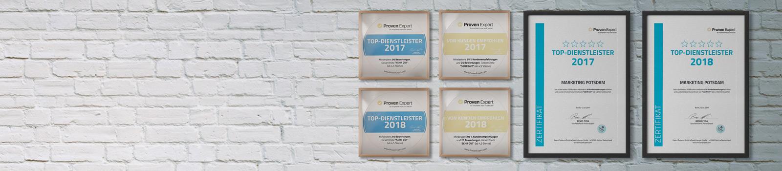 Werbeagentur MAPO-Marketing Potsdam, ProvenExpert Auszeichnungen