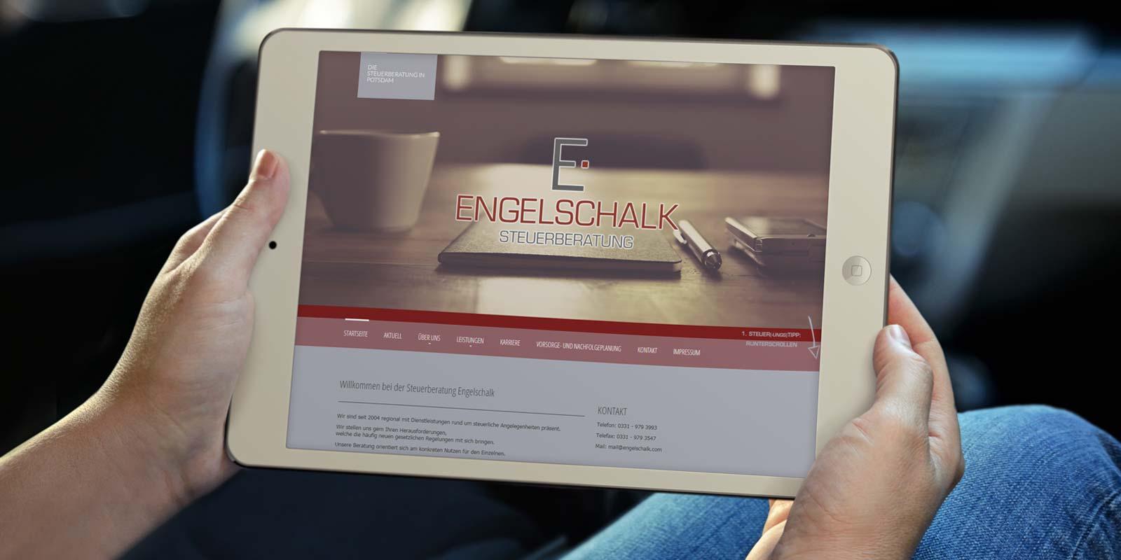 Werbeagentur MAPO-Marketing Potsdam, Responsive Webdesign für Engelschalk Steuerberatung