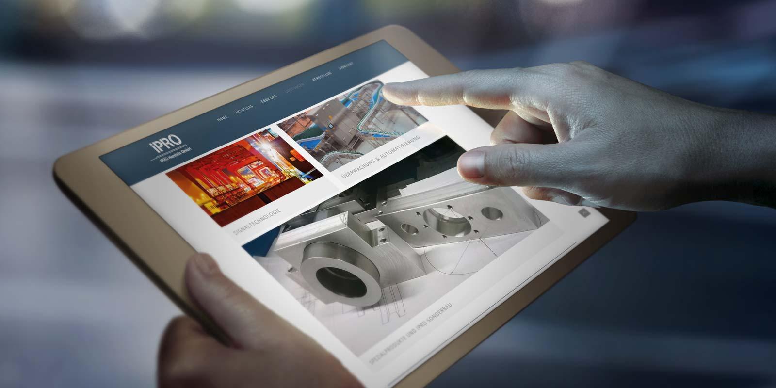 Werbeagentur MAPO-Marketing Potsdam, Responsive Webdesign für IPRO Handels GmbH