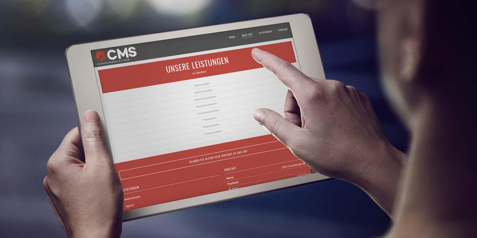 Werbeagentur MAPO-Marketing Potsdam, Responsive Webdesign für CMS Fassadengestaltung GmbH