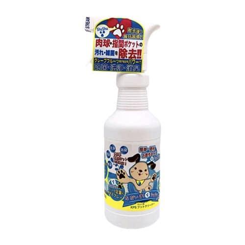 簡単・便利お散歩の後に足裏に直接スプレ-し肉球・指間の汚れや雑菌を洗浄除去!KPSフットクリーナー