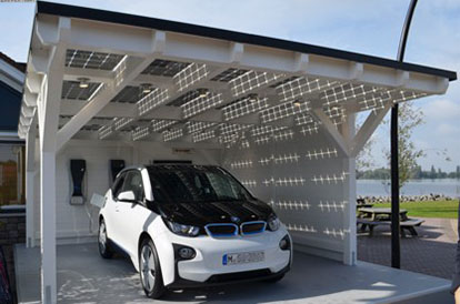 BMW i3 Launch in Amsterdam mit Solarcarport