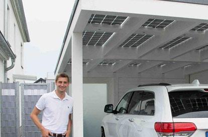 Solarcarport und Solarterrassendach in Heidelberg