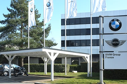 Solarcarport bei BMW in Paris