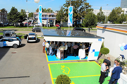 Solarcarport bei BMW in Paris