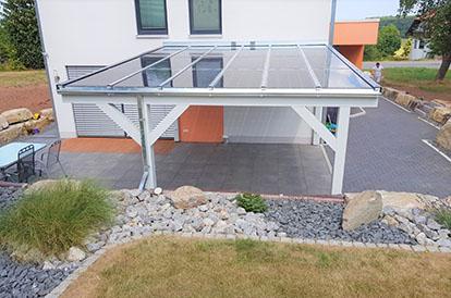Solarterrassendach aus Holz bei Kassel