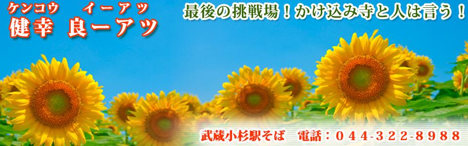 武蔵小杉駅すぐ 健幸良ーアツ(ケンコウイーアツ)