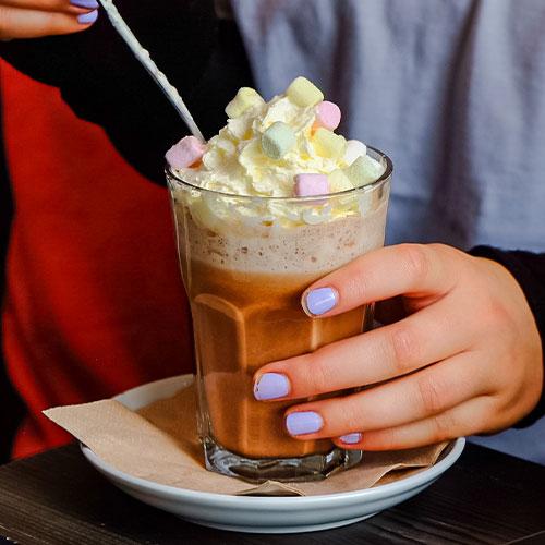 Eishunger Shake mit Sahne Marshmallows
