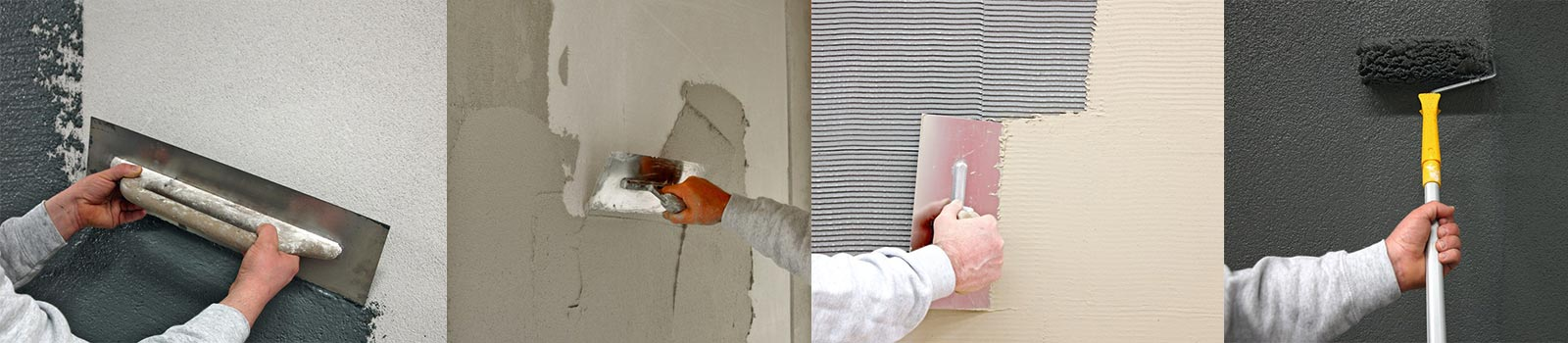Mitarbeiter der 3B Denkmalpflege & Bausanierung GmbH beim verputzen und anstreichen einer Fassade