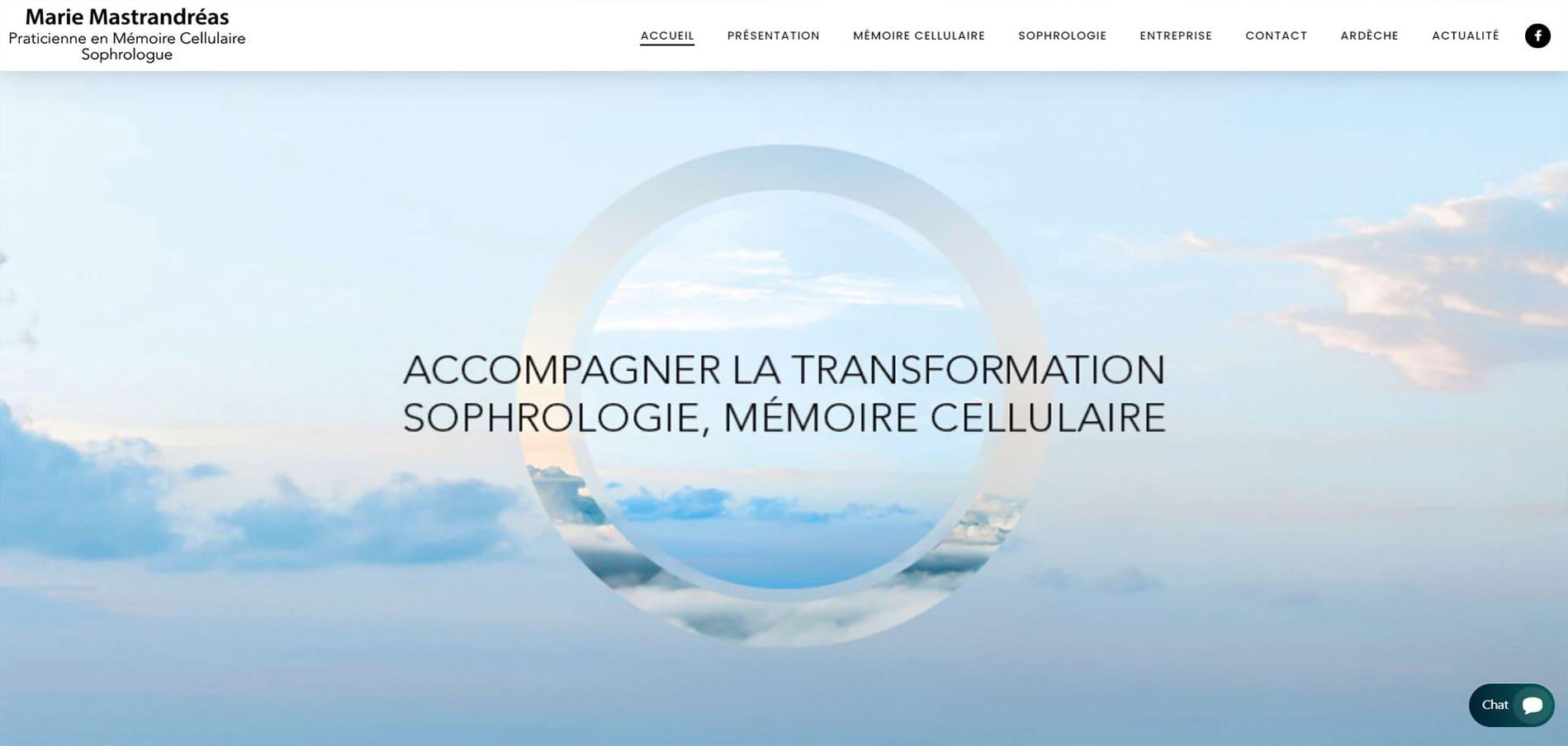 Page d'accueil du site de Marie Mastrandreas