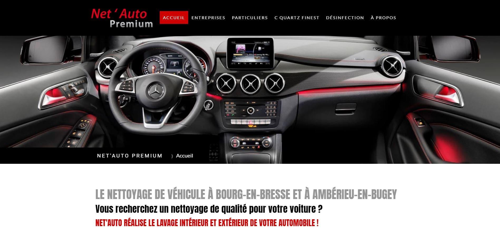 Page d'accueil du site de Netauto premium Bourg en Bresse