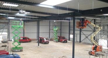 Lagerhalle im Gewerbepark in Wildau