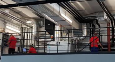 Installation Zusatzkühlung im Zukunftsforschungszentrum in Wildau