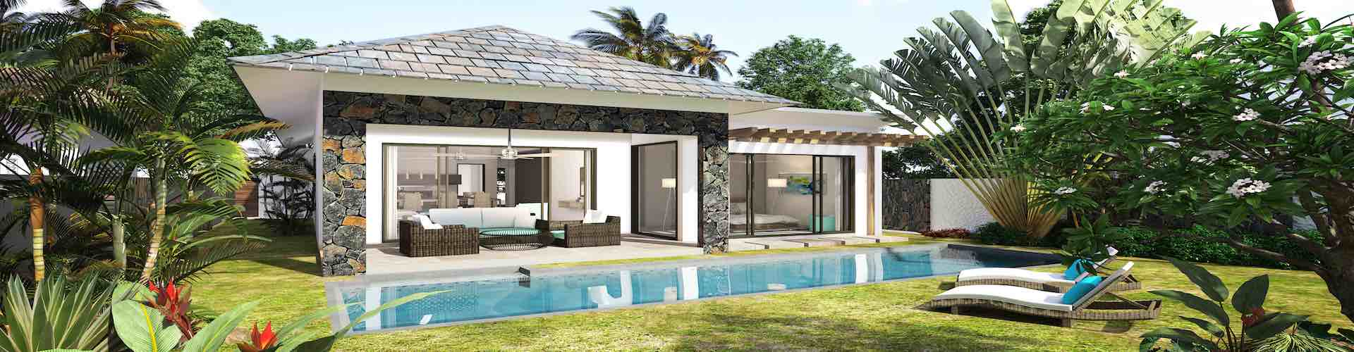 achat et vente immobilier ile Maurice villa tropica baie avec piscine habitation et investissement grand baie pereybère Nord proche plage, bord de mer