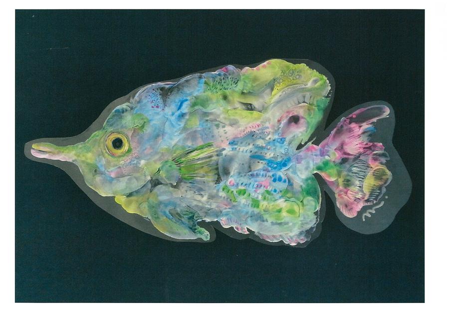 クレイペイント 揺れる熱帯魚