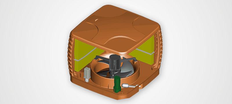 Kühlwürfel - technischer Aufbau