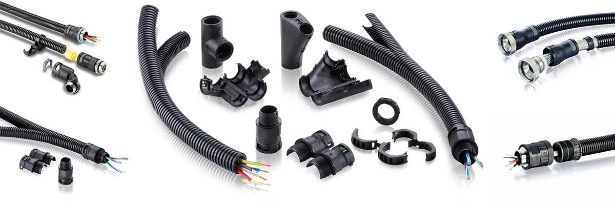 Kabelschutzsysteme, EMV-Schutz, Teilbare-Systeme und Fix-Pro Braune Industrievertretung