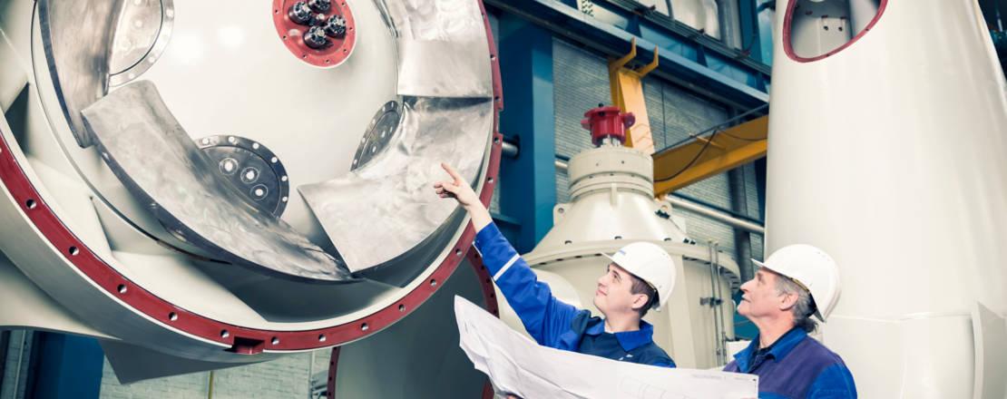 Braune Industrievertretung - Rohrgehäusepumpe beim Aufbau