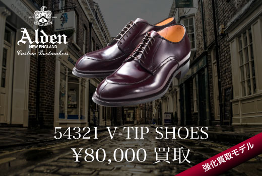 ALDEN 54321 V-TIP SHOES