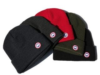 カナダグースの帽子等小物類も高価買取!