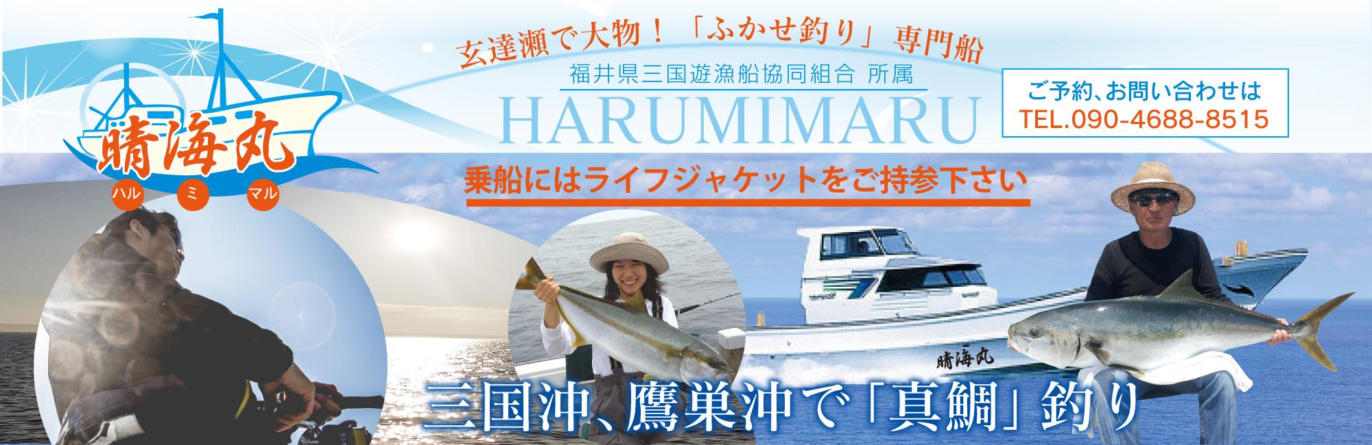 晴海丸は三国遊漁船協同組合所属のふかせ釣り専門船