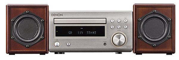 オーディオコンポ 小型平面スピーカー S08 × DENON アンプ RCD-M41 サイズイメージ