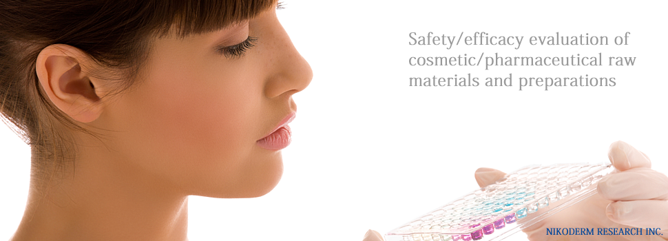Safety/efficacy evaluation of cosmetic/pharmaceutical raw materials and preparations