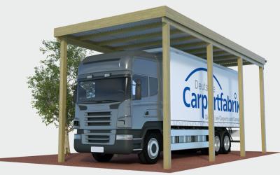 Carports für LKW, Reisebusse, hohe Wohnmobile und Einsatzfahrzeuge